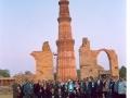 Delegates/Observers at the Qutab Minar